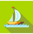 Yacht icon in flat style vector image
