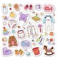 Baby stickers badge vector image