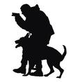 Police Dog vector image