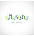 Optical concept abstract logo template vector image