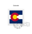 State of Colorado flag postage stamp vector image