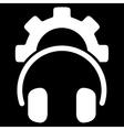 Headset Configuration Icon vector image
