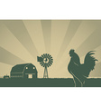 American Farming Background vector image