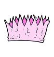 comic cartoon paper crown vector image