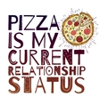 Funny Pizza poster doodle style vector image