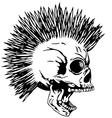 skull punk2 vector image vector image