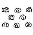 Set of photo camera symbols vector image vector image