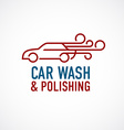 Car wash and polishing logo template vector image