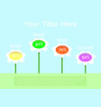 flower infographics template vector image