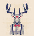 nerd deer vector image