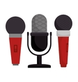set microphone modern and vintage vector image