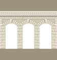wall with arches vector image