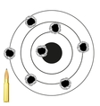 Dartboard with hole from pool vector image