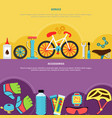bicycle banners set vector image