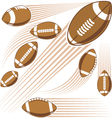 Flying american football ball vector image vector image