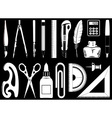 icons of instruments vector image