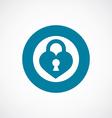 heart lock icon bold blue circle border vector image