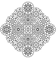 Outlined circular geometric pattern over white vector image