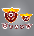 bird emblem logo football vector image vector image