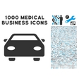 Car Icon with 1000 Medical Business Pictograms vector image