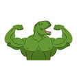 Dinosaur strong athlete Angry fitness vector image