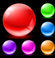 glossy spheres vector image