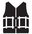 life vest icon on white background life vest vector image