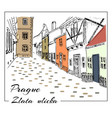 Prague colored hand drawn sketch vector image