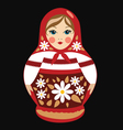 Red Russian Doll Detailed vector image