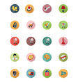 Shopping Flat Colored Icons 5 vector image