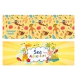 Summer holidays banners set templates for vector image