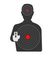 targets on dangerous criminal black silhouette vector image