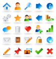 web community icons vector image