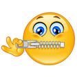Zipper emoticon vector image