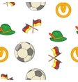 Stay in Germany pattern cartoon style vector image vector image