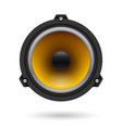 realistic speaker on white background for design vector image vector image
