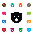 isolated pig icon piggy element can b vector image