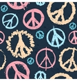 Retro Peace symbol seamless vector image vector image
