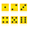 yellow cube for playing game vector image