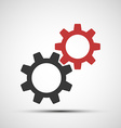 icons of mechanical gears vector image