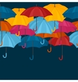 Seamless pattern with colored umbrellas for vector image