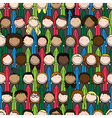 Happy kids pattern vector image vector image