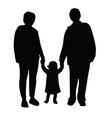 grandmother and grandfather with child vector image