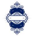 vintage emblem ribbon vector image vector image