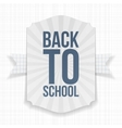 Back to School paper Label vector image