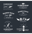 Barbershop design elements vector image