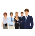 Businessman with team vector image