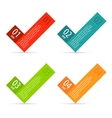 Check in infographics options banner vector image