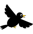 crow black vector image