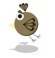 Funny Flying Little Cartoon Bird vector image